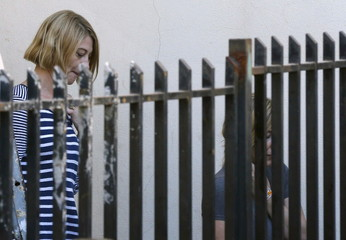 Australian Sally Faulkner, the mother of the al-Amin children, and Australian reporter Tara Brown, are seen upon their release from Lebanon's Baabda Prison for women