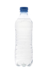 A bottle of water on a white background
