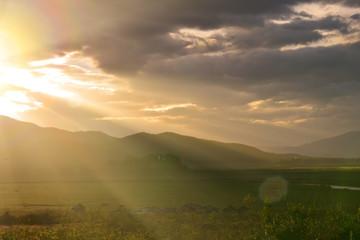 Natural background, sunset