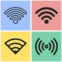 Wi-Fi icon set.