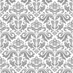 Orient vector classic light silver pattern. Seamless abstract background with repeating elements. Orient background
