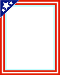 United States flag picture frame for photo