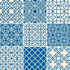 Turkish texture vector semless patterns
