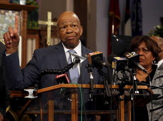 U.S. Rep. Elijah Cummings (D-MD) speaks during a news conference on the demonstrations for Freddie Gray, who died following an arrest by the Baltimore police department, in Baltimore, Maryland