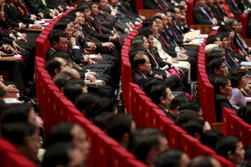Delegates attend the opening ceremony of the 12th National Congress of Vietnam's Communist Party in Hanoi, Vietnam