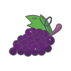 Grapes Icon Illustration Isolated Vector Sign Symbol