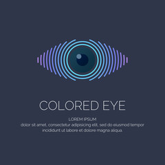 Modern colored logo eye