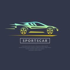 Modern vector logo sports cars