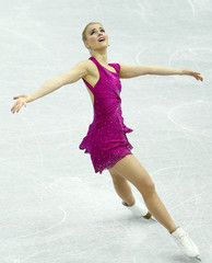 Kopri of Finland performs during the women's free skating at the ISU Grand Prix of Figure Skating Final in Sochi
