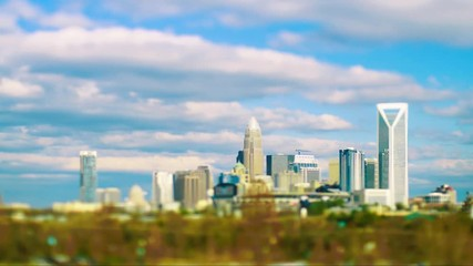 Wall Mural - timelapse looking at charlotte north carolina cityscape