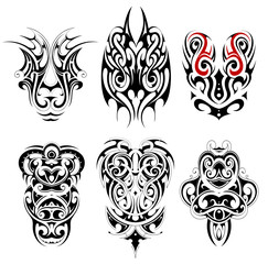 Set of tribal tattoo shapes