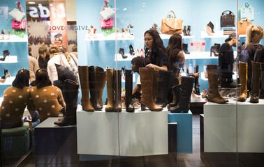 People shop for shoes inside Westfield San Francisco Centre during Black Friday in San Francisco