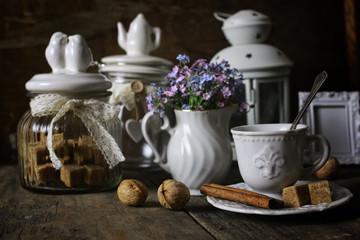 vintage tea table concept