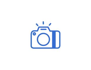 Flat digital camera photography shoot trechnology
