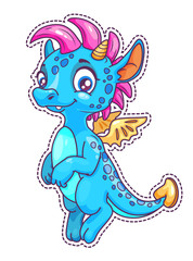 Little cute cartoon dragon patch.
