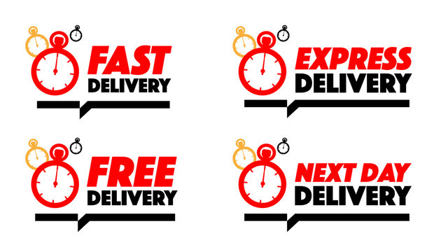 Fast delivery, express delivery, free delivery, next day delivery