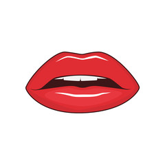 Female lips isolated
