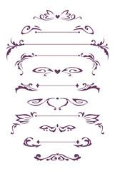 Decorative vintage design elements.
