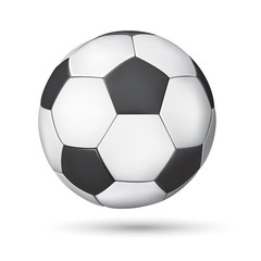A soccer (football) ball isolated on a white background. Vector illustration