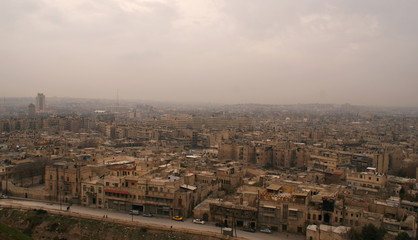 A general view shows Aleppo city as seen from Aleppo's historic citadel