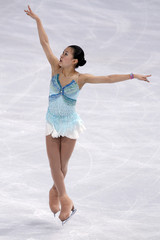 Murakami of Japan performs during the ladies free program in the Bompard Trophy event at Bercy in Paris