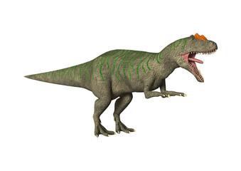 3D Rendering Dinosaur Allosaurus on White