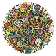 Cartoon cute doodles hand drawn Idea illustration