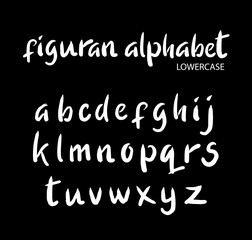 Figuran vector alphabet lowercase characters. Good use for logotype, cover title, poster title, letterhead, body text, or any design you want. Easy to use, edit or change color.