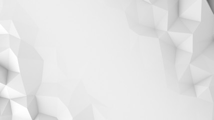 White polygons and free space abstract 3D render background Wall mural