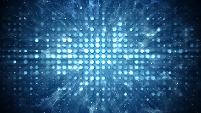 Stage lights and smoke disco party concept abstract background