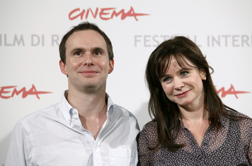Actress Watson and director Loach pose during a photo call for their in-competition movie 'Oranges and Sunshine' at the Rome Film Festival