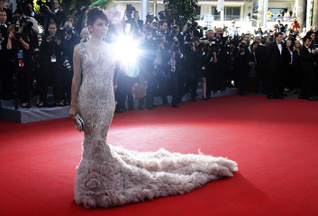 Actress Longoria arrives on the red carpet for the screening of the film Moonrise Kingdom in competition at the 65th Cannes Film Festival