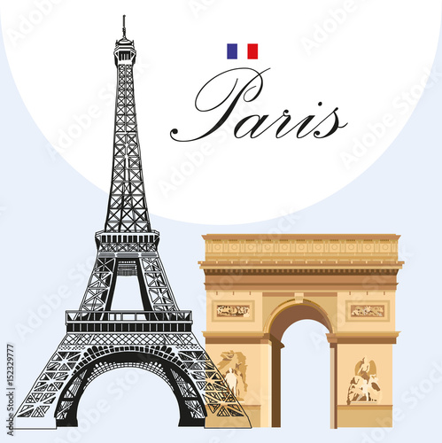 Vector eiffel tower and triumphal arch stock image and royalty free vector eiffel tower and triumphal arch thecheapjerseys Gallery