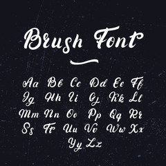 Hand written lettering font.