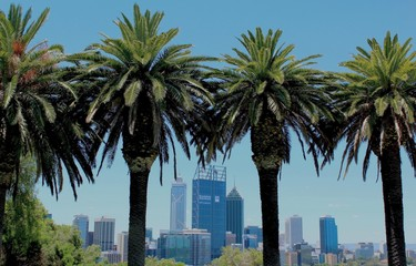 Fototapete - Perth City, Australie Occidentale