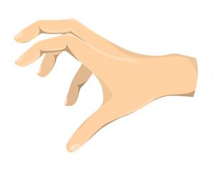 Isolated grabbing hand.