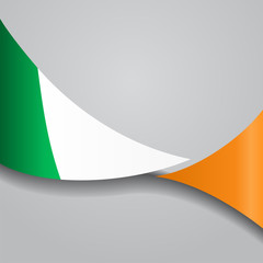 Irish wavy flag. Vector illustration.