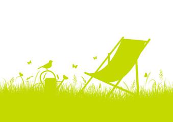 Summer Meadow Canvas Chair Banner