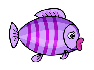 Cartoon fish on white1-01