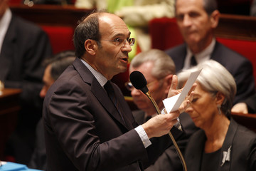 France's Labour Minister Eric Woerth speaks during the government questions session at the National Assembly in Paris