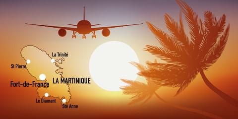 Martinique - île - Antilles - tourisme - carte - avion - destination - voyage
