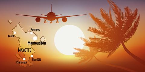 Mayotte - île - tourisme - carte - avion - destination - voyage