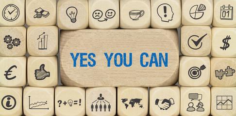 Yes You Can / Würfel mit Symbole