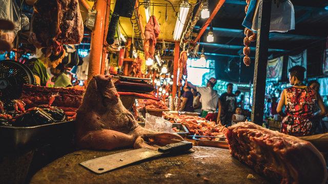 Local fresh market in Manila, Philippines