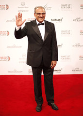 Syrian actor Jamal Soliman arrives on red carpet during Abu Dhabi Film Festival