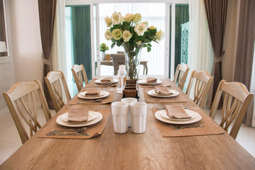 dining table setting.