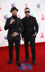 Musical duo Alexis & Fido arrives at the 17th Annual Latin Grammy Awards in Las Vegas