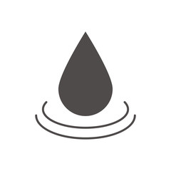 Water drop glyph icon