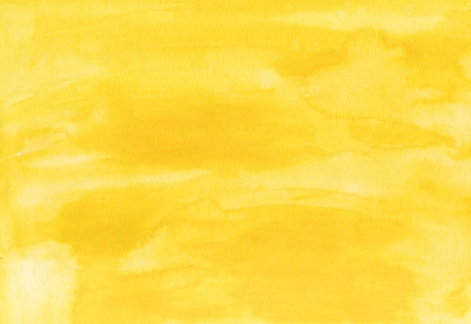 Abstract bright yellow watercolor background.