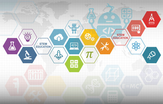 STEM Education Background. Science Technology Engineering Mathematics.
